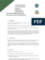 PROGRAMA DE ADMINISTRACIÓN PÚBLICA