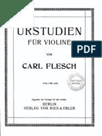 carl flesch - urstudien für violine (german - français - english)