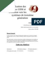 Planification des réseaux GSM et évolution vers les systèmes de troisième génération