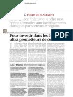 Pour investir dans les thèmes ultra prometteurs de demain (AGEFI - Juin 2010