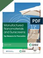Nanomatz and Sunscreens