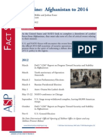Fact Sheet - Afghanistan Timeline to 2014