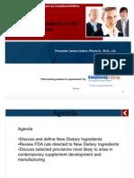 New Dietary Ingredient Presentation