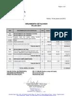 Orçamento detalhado