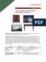 Christie's Americana Week 2012 Totals $24.8 Million