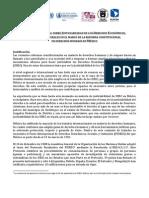 Programa Foro Internacional DESC