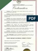 NM School Choice Week Proclamation