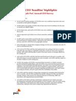 15th PwC Annual CEO Survey - US Highlights