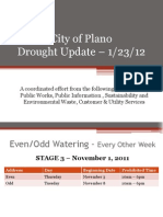Plano Drought Update
