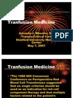 Transfusion Medicine TICU