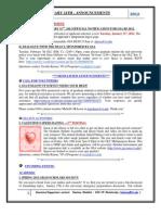 GSA Announcements Jan 24th 2012