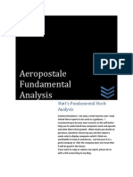 Aeropostale Inc Analysis