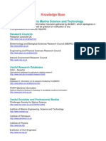 Knowledge Base Research Into Marine Science and Technology
