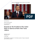 Remarks by the President of the United States of America in State of the Union Address