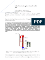 Study of the Dispersed Phase Behaviour in a Pulsed Column for Oxalate