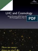 Hitoshi Murayama- LHC and Cosmology