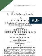Horvát István - A  Jászokról, mint Magyar Nyelvű Népről és Nyilazókról 1829.