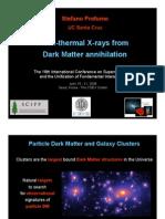 Stefano Profumo- Non-thermal X-rays from Dark Matter annihilation