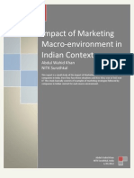 Impact of Marketing Macro-Environment in Indian Context by Wahid311