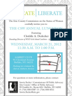 CSW Annual Luncheon