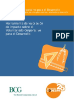 Herramienta de valoración de impacto sobre el Voluntariado Corporativo para el Desarrollo