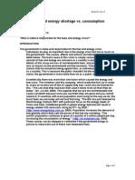 Fuels and Energy Shortage vs. Consumption Essay