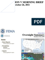 FEMA Region v Morning Brief 10-26-2011