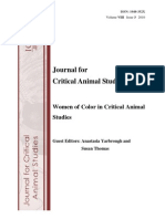 JCAS Special Issue Women of Color in animal rights November 3 FINAL 2010