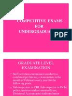 Competitive Exams for UG