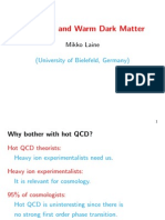 Mikko Laine- Hot QCD and Warm Dark Matter