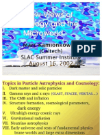 Marc Kamionkowski- New Views of Cosmology and the Microworld