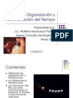 Organizacion y Admin is Trac Ion Del Tiempo
