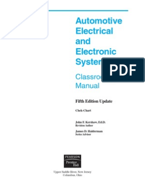 Automotive Electrical and Electronic Systems 5e | ... on