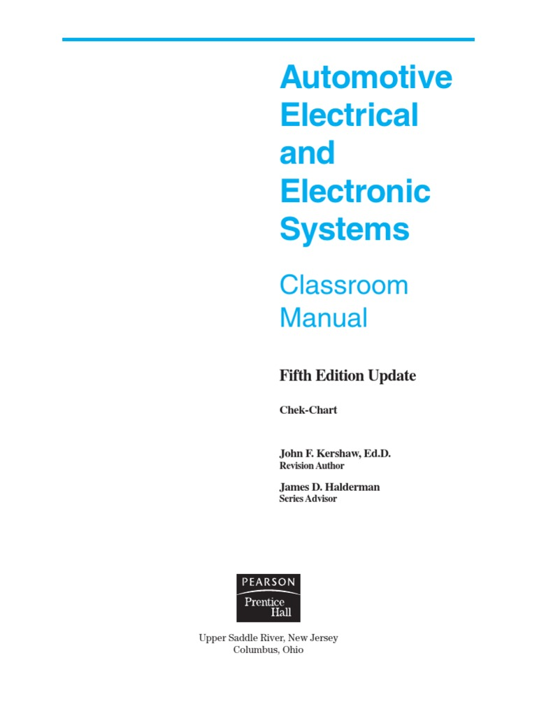 Automotive Electrical and Electronic Systems 5e | Screw | Nut (Hardware)