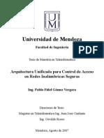 Arquitectura Unificada para Control de Acceso en Redes Inalámbricas Seguras-Tesis