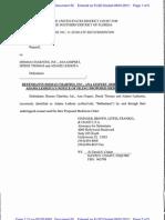 Defendants Dismas Charties. Inc.. Ana Gispert, Derek Thomas and Adams Leshota's Notice of Filing Proposed Mediation Order