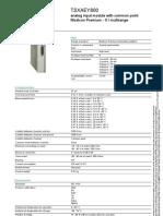 Modicon Premium Automation Platform TSXAEY800