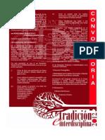 1er. Convocatoria Seminario Tradicion e Interdisciplina 2012.