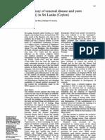 The History of Venereal Disease and Parangi in Sri Lanka