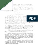 CONTRATO DE ARRENDAMIENTO PARA CASA HABITACIÓN (29-ABR-06)