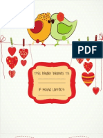 Lovebirds Template
