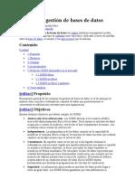 Sistema de gestión de bases de datos