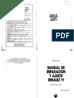 Manual de Reparacion y Ajuste Renault 11