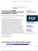 Patterns of Language Comprehension Deficit in Abused and Neglected Children -- Fox Et Al. 53 (3)