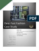 [Case Study] Zara Fast Fashion