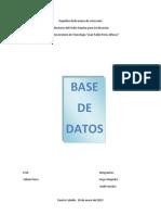 Trabajo Base de Datos