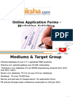 Online Application Forms Marketing Promotions