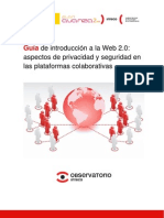 48730049 Guia de Introduccion a La Web 20 Aspectos de Privacidad y Seguridad en Las as Colaborativas