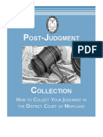 How to Collect Judgement in Md