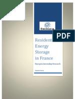Residential Energy Storage